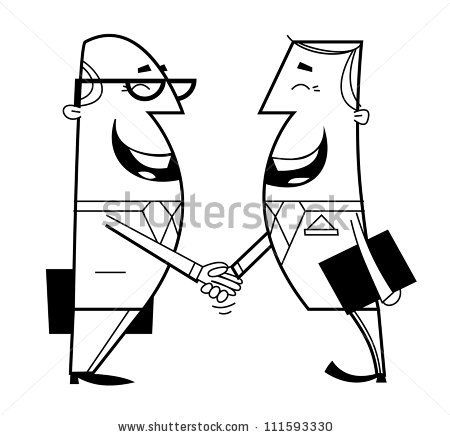 450x437 Shaking Hands Drawing