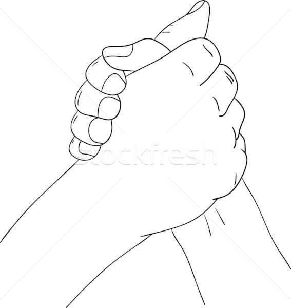 567x600 Shaking Hands Vector Illustration Pavel Bortel (Pavelmidi