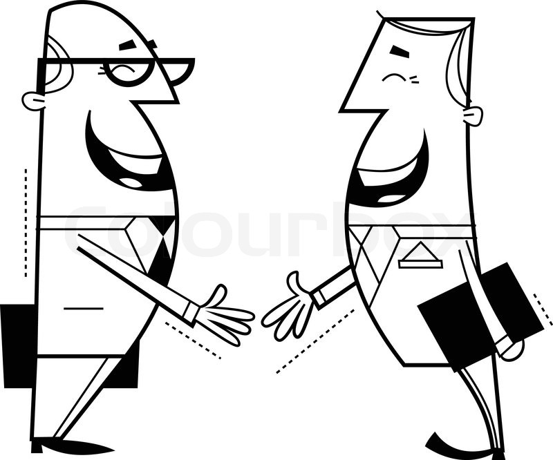 800x666 Businessmen Shaking Hands Stock Vector Colourbox