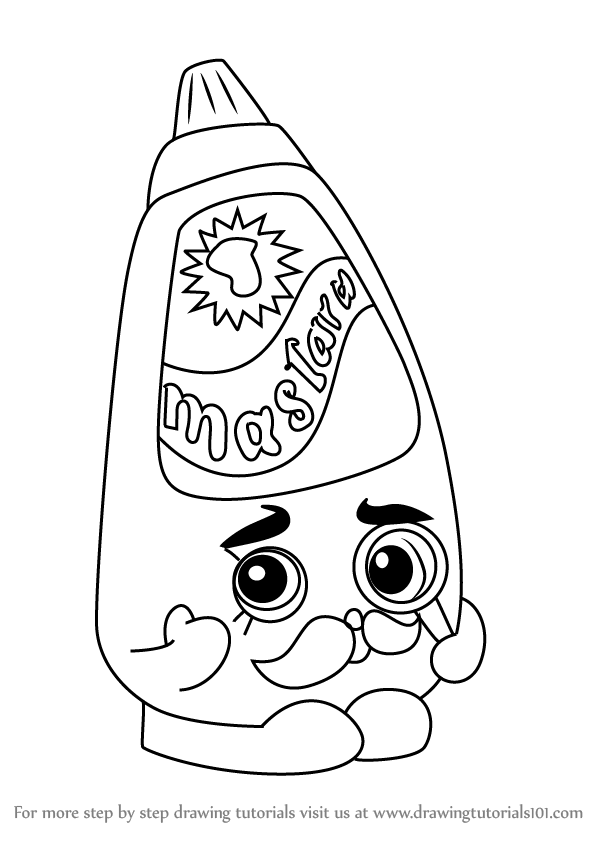598x844 Learn How To Draw Cornell Mustard From Shopkins (Shopkins) Step By