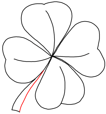 450x482 How To Draw 4 Leaf Clovers Amp Shamrocks For St Patricks Day