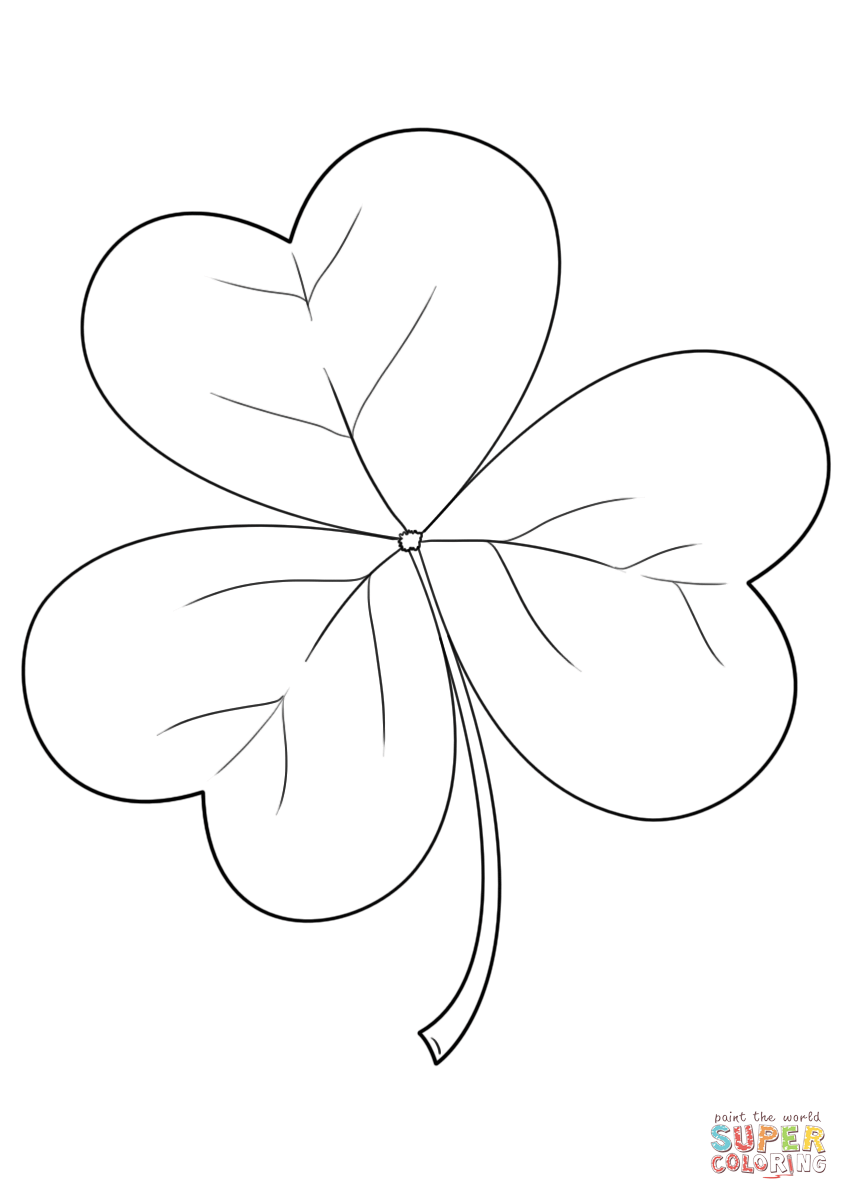 Shamrock Line Drawing at GetDrawings Free for personal use Shamrock Line Drawing of your