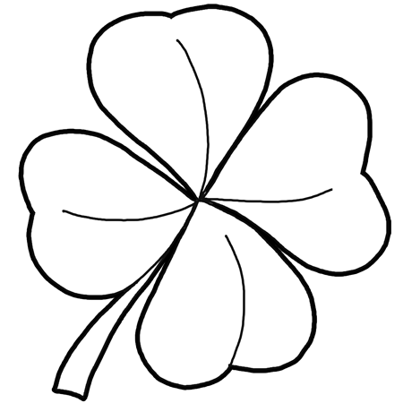 450x450 How To Draw 4 Leaf Clovers Amp Shamrocks For St Patricks Day