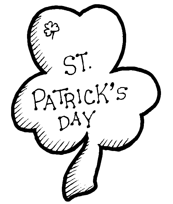 576x677 St Patricks Day Coloring Pages St Patricks Day Shamrock Coloring