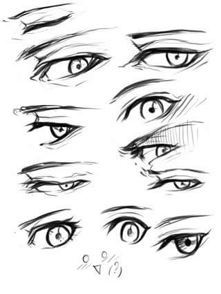 Sharingan Eye Drawing
