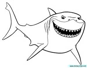 300x235 Finding Nemo Shark Coloring Sheet Coloring Pages Pixar Colouring