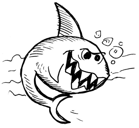 480x442 How To Draw A Cartoon Shark Results
