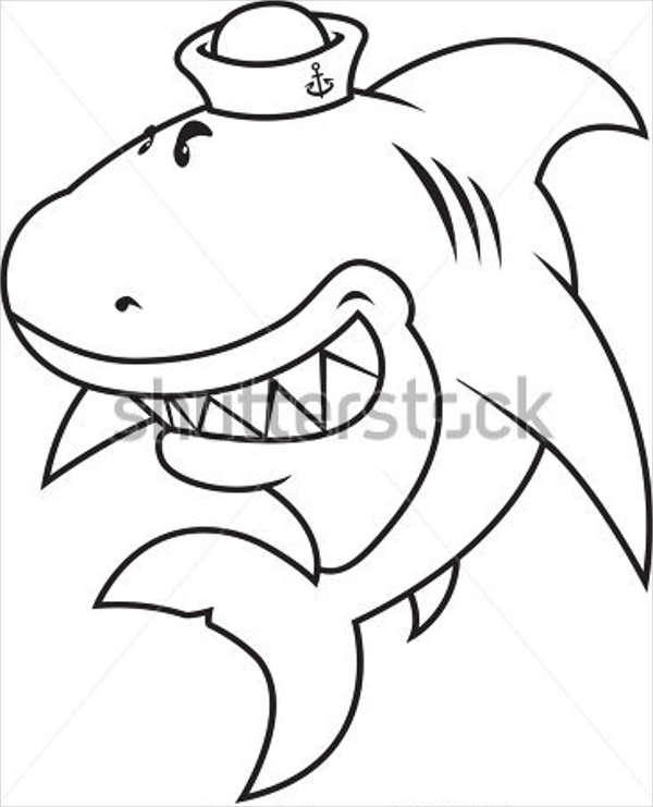600x741 Shark Drawings