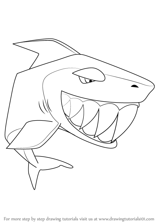 598x844 Learn How To Draw Shark From Animal Jam (Animal Jam) Step By Step