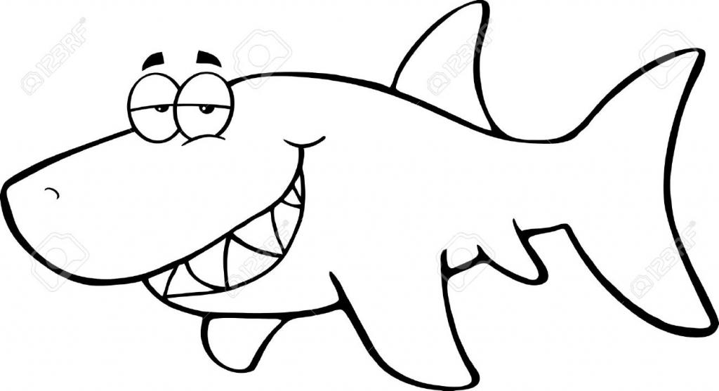 1024x557 Cartoon Drawings Of Sharks How To Draw Cartoon Shark