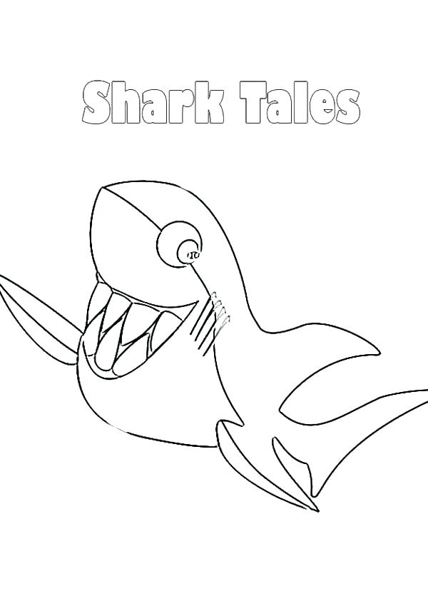 600x825 Great White Shark Coloring Coloring Shark Draw Background Great