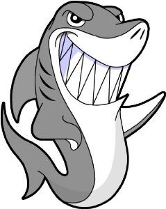 239x300 Shark Clip Art Cartoon Clipart Panda