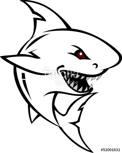 398x500 Angry Shark Cartoon Sketch Stock Image And Royalty Free Vector