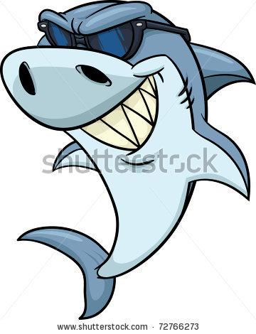 360x470 Friendly Shark Paintings For Children Cool Cartoon Shark Wearing