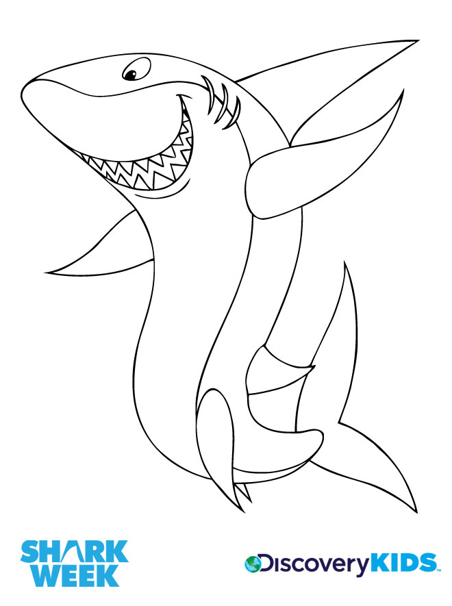 660x885 Happy Shark Coloring Page Discovery Kids