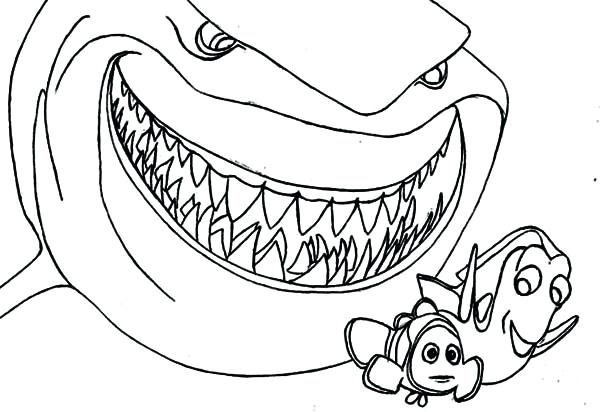 600x412 Ideal Great White Shark Coloring Pages Kids Sharks Printable Image
