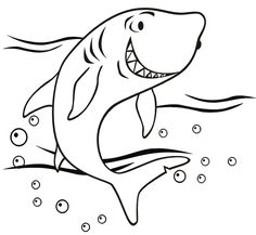 236x217 Free Printable Sharks To Color And Use For Crafts And Other