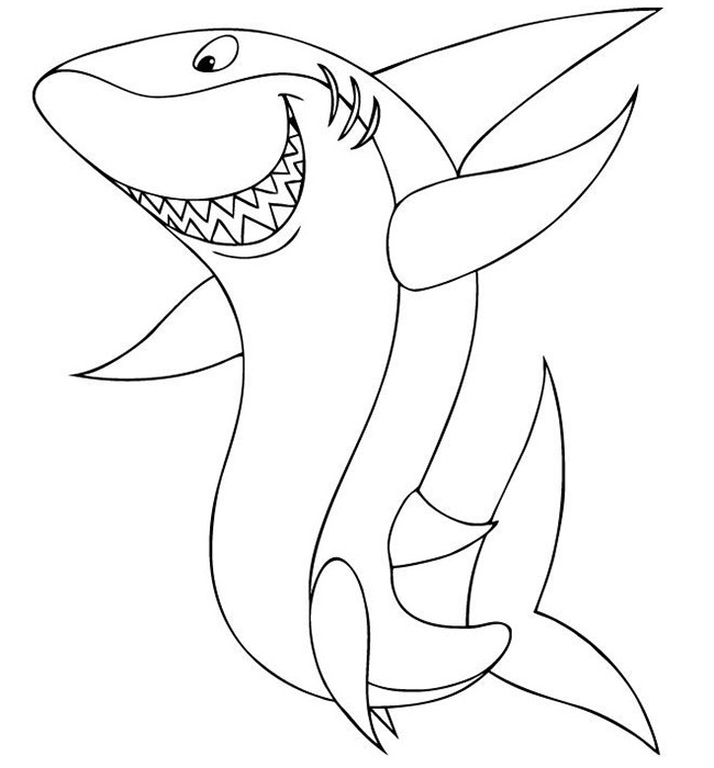 650x700 Shark Shape Templates, Crafts Amp Colouring Pages Free