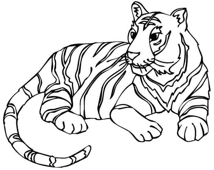 700x556 Printable Tiger Coloring Pages Tiger Coloring Book Pages Funny