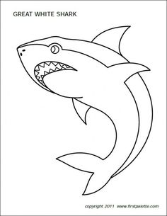 236x305 Shark Templates For Children's Activities Templates