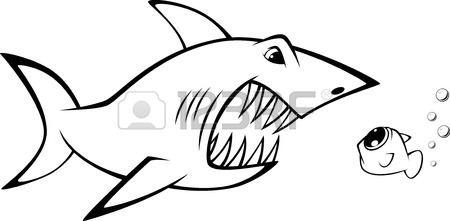Shark Face Drawing