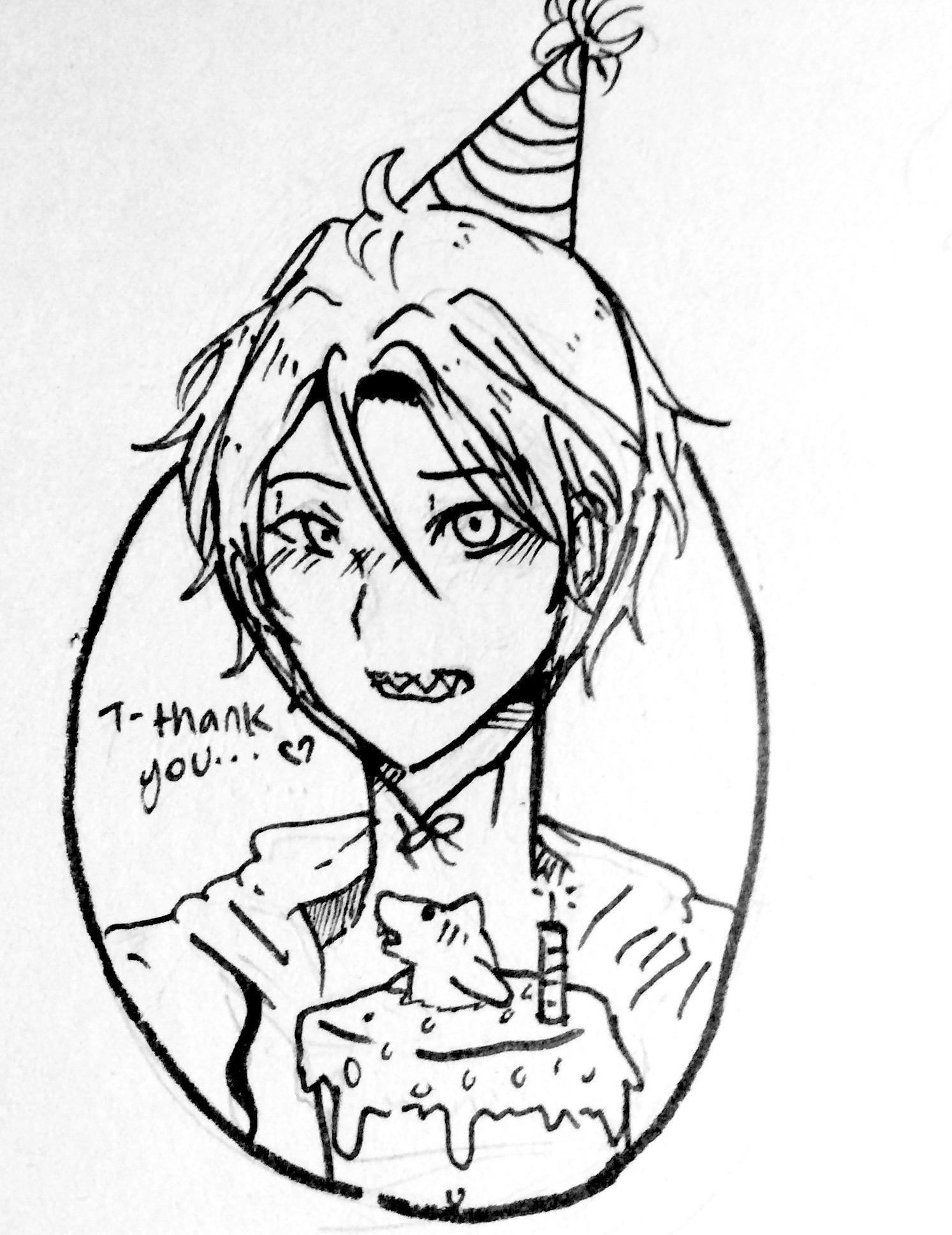 1493x1936 Happy Birthday Rin! D My Smol Angry Shark Child. My Mqt's Arw