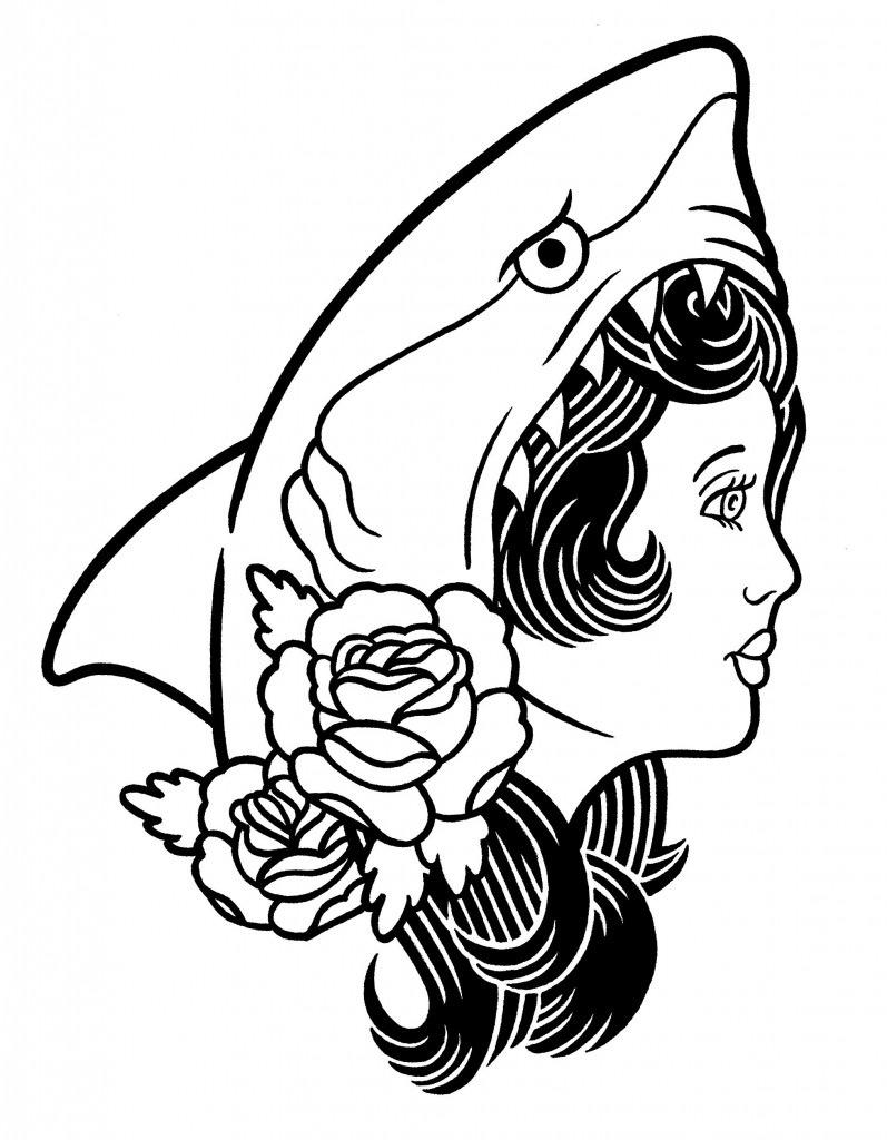 797x1024 Shark Face Gang Nifty! Tattoo, Tatting And Tattoo