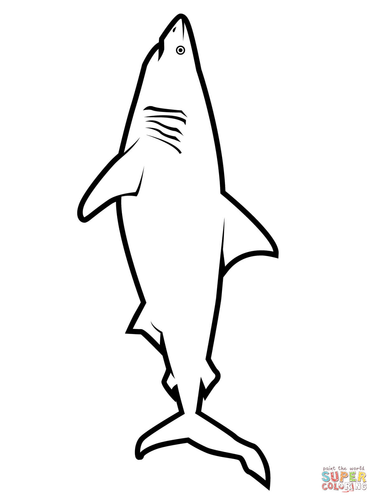 1200x1600 realistic great white shark coloring page free printable