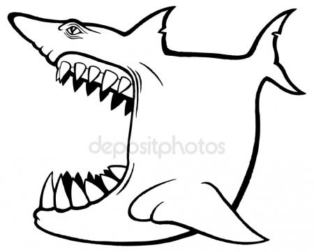 450x361 Shark Open Mouth Stock Vectors, Royalty Free Shark Open Mouth