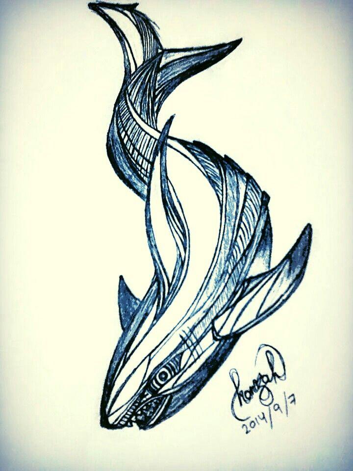 720x960 Drawn M.c.escher Shark