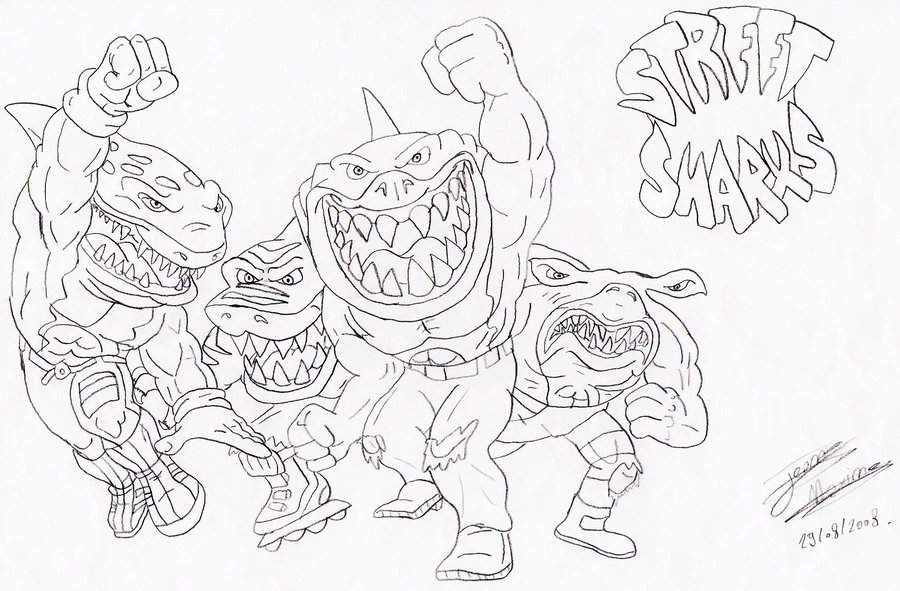 900x591 Street Sharks 001 By Maxime Jeanne