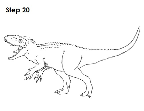 500x386 How To Draw A Dinosaur From Jurassic World For Kids Shark Drawing