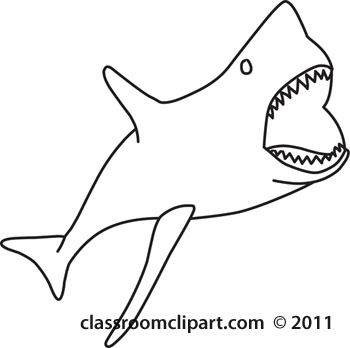 350x348 Shark Clipart Line Drawing