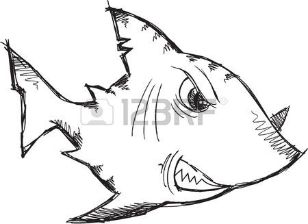 450x327 Sketch Doodle Robot Cyborg Shark Royalty Free Cliparts, Vectors