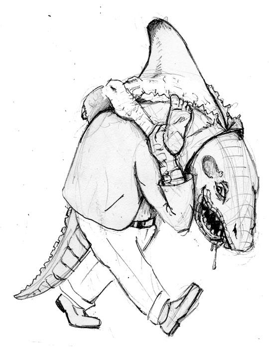 540x700 Sketch Please Half Shark Alligator Half Man (Dr. Octagon)