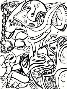 227x300 Shark Teeth Drawings Fine Art America