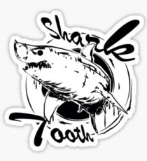 210x230 Shark Tooth Drawing Stickers Redbubble