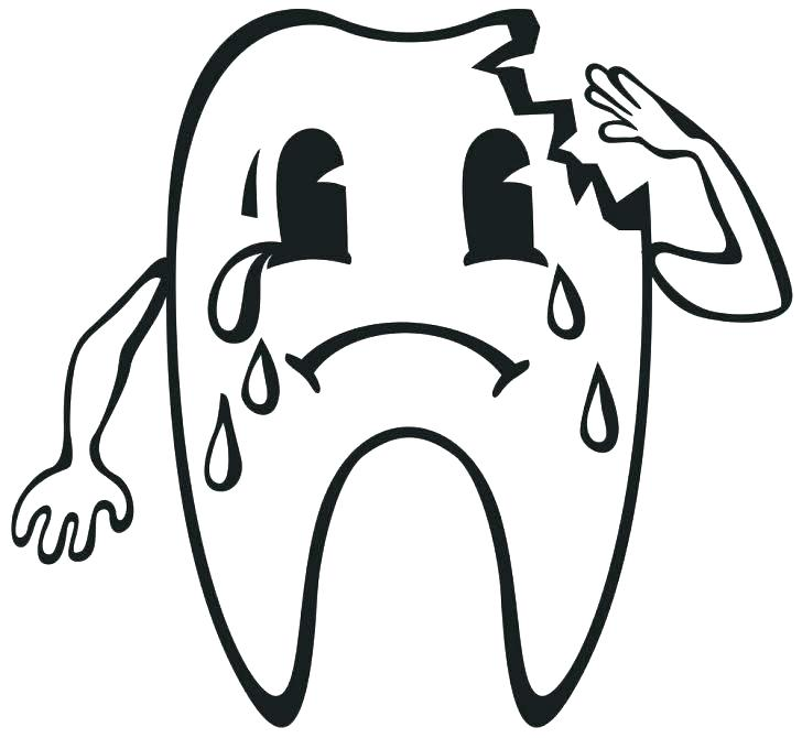 728x670 Tooth Coloring Pages 74 In Addition To Girl Brushing Teeth Color