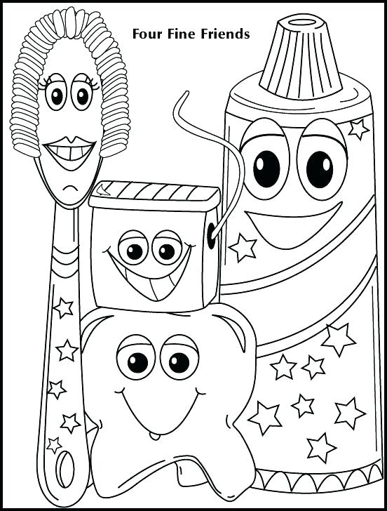 552x728 Teeth Coloring Pages