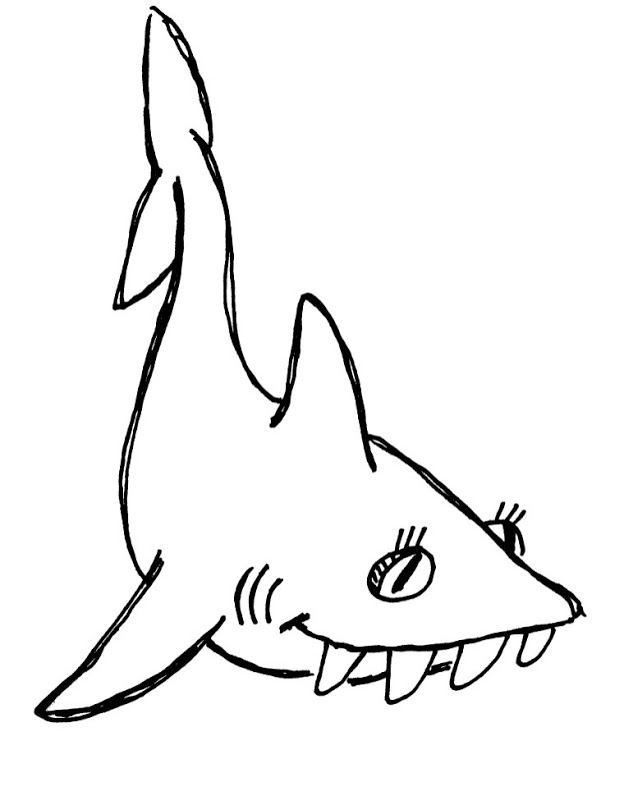 624x800 Shark Coloring Pages To Print Animals (10 Image)