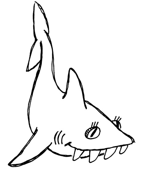 468x600 Free Printable Shark Coloring Pages For Kids