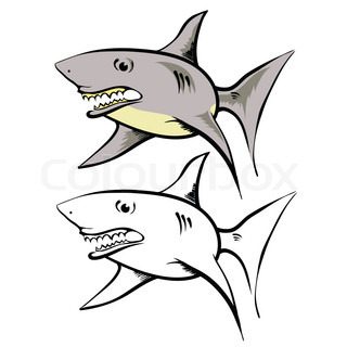 320x320 Model Of A Dangerous Shark With Open Mouth Stock Photo Colourbox