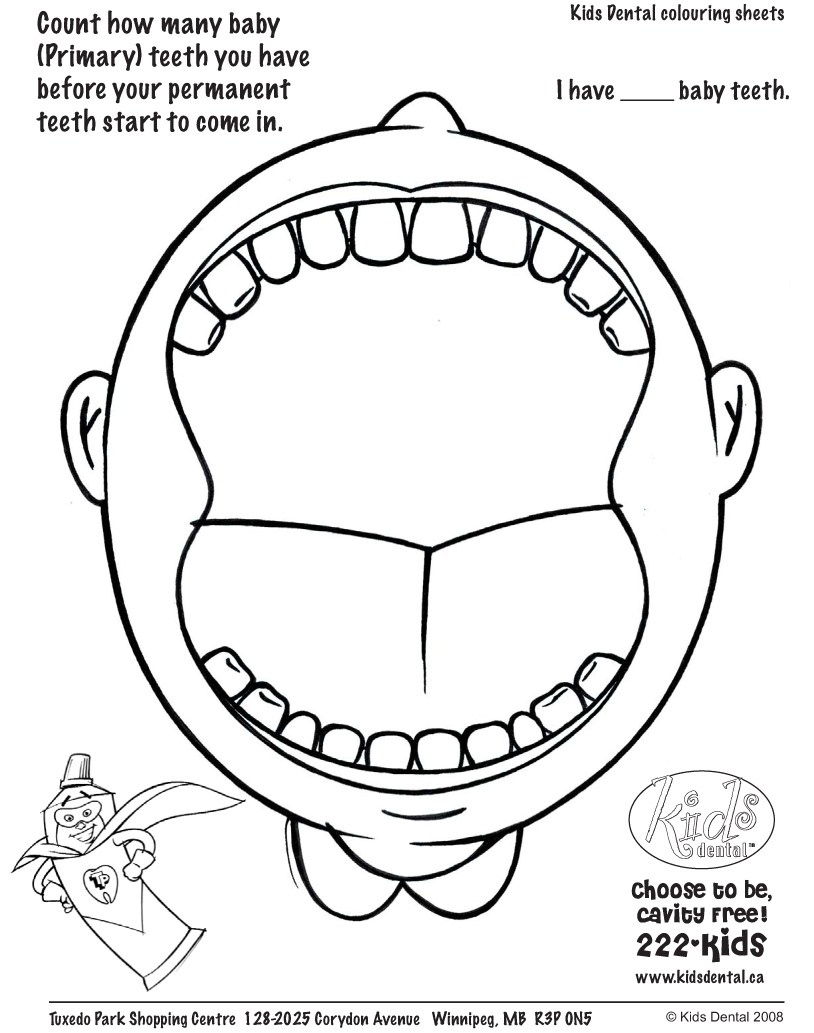 814x1033 Mouth Coloring Pages