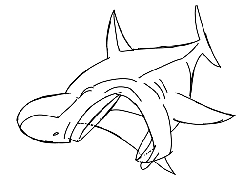 500x380 Photo Shark Boy Coloring Page Images. Make A Interesting