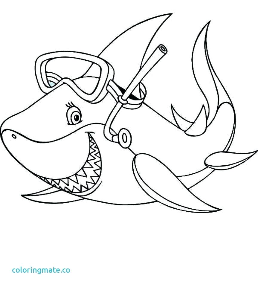 863x960 Coloring Coloring Page Of A Shark Great White With Mouth Open