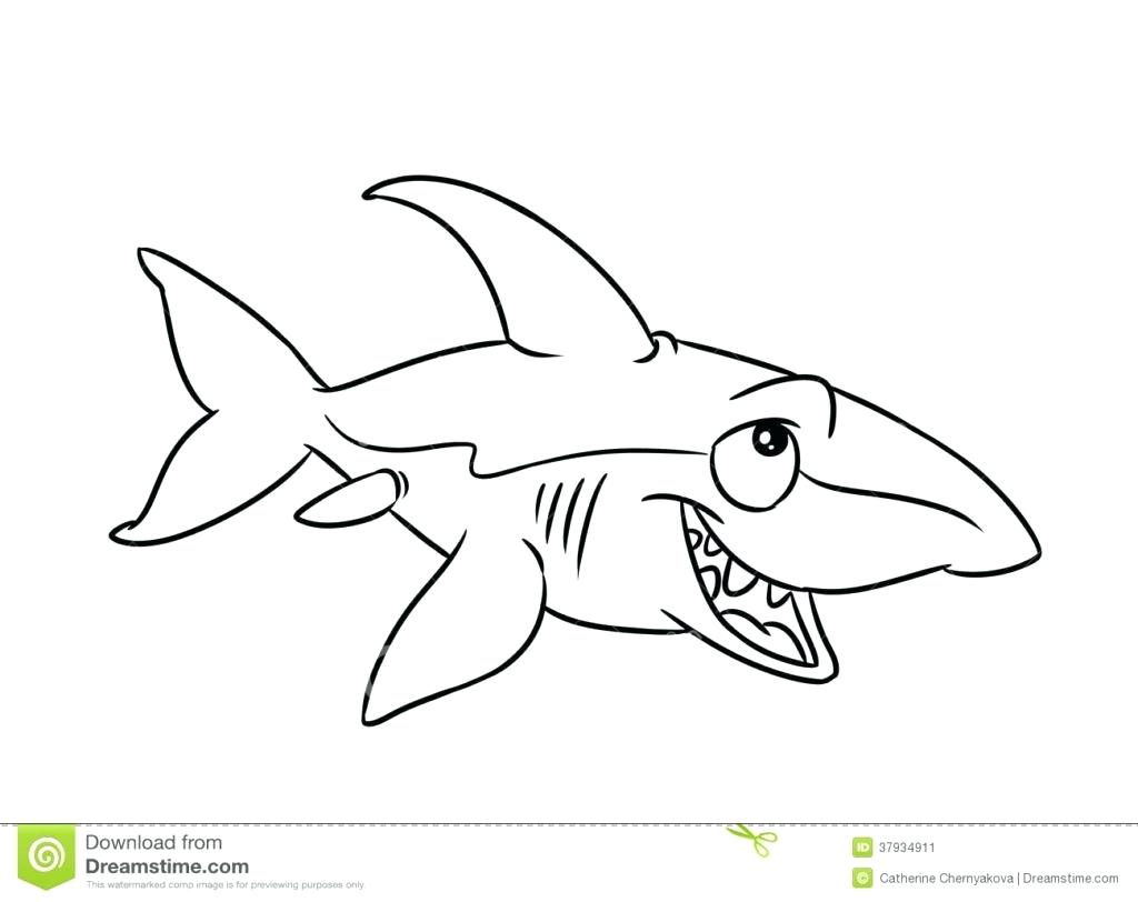 1024x812 Coloring Jaws Coloring Pages Goblin Shark Print. Jaws Coloring Pages