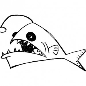 300x300 Angler Fish Sharp Teeth Coloring Pages Angler Fish Sharp Teeth