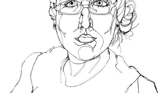 570x320 Self Portrait Line Drawing Self Portrait, Sharpie Pen, One