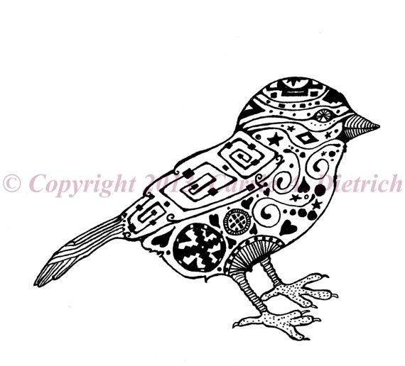 570x516 Art, Black And White Art, Pen And Ink Bird, Bird Drawing, Bird
