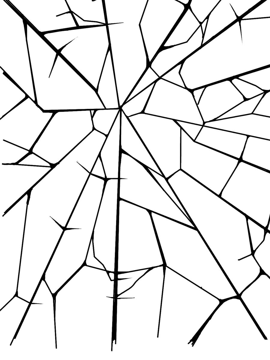 900x1200 Broken Glass Drawing Broken Glass Patternmish77